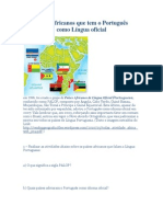 Países africanos que tem o Português