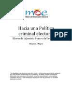 Investigacion Juridica Hacia Una Politica Criminal Electoral