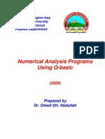 Q-basic Numerical Analysis Programs