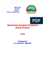 Q-basic Numerical Analysis Programs
