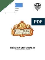 Programa y Lecturas Historia Universal III