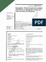 NBR+-+9775-1987 Agregados - Determinação da umidade superficial em agregados miúdos por meio do frasco de chapman