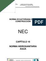 Nec-cap16 Instalaciones Hidrosanitarias Enero Entregable