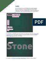 Texto Com Textura de Pedra