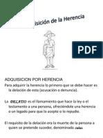 Adquisición de la Herencia