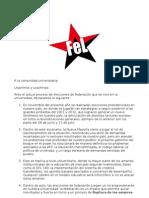 Declaracion Ante Elecciones