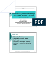 Information Systems and Strategic Information Systems Planning Information Systems Foundation (IS201)