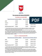 2013-14 Senior Fees