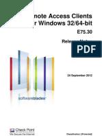 CP E75.30 Remote Access Clients ReleaseNotes