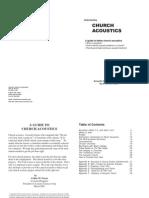 Church Acoustics Booklet