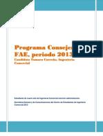 Programa Consejería FAE