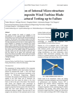 Characterization of Internal Micro‐structure Damage of Composite Wind Turbine Blade Following Structural Testing up to Failure