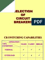 SELECTION OF CIRCUIT BREAKER