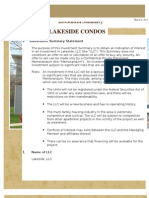 Lakeside LLC Pre Due Diligence Investor