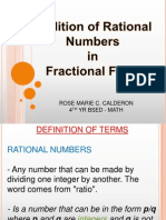 Adding Rational Numbers in Fractional Form