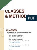 Classes&Methods in java