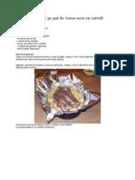 Friptura de Porc Pe Pat de Varza Acra Cu Cartofi