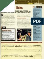 PDF - GUITAR LICKS BLUES - Techniques SongBook - Fast Blues Licks