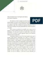 Carta Del Papa Francisco a Lorenzetti