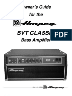 Ampeg SVT Classic Owner's Guide