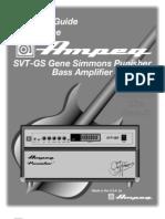 Ampeg SVT-GS Gene Simmons Punisher Bass Amp Owner's Guide