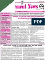 CSE MAINS Preparation - Employment News