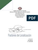 Factores de Localización de una planta ensambladora de vehiculos