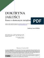 Andrzej Jacek Blikle Doktryna-jakosci rzecz o skutecznym zarządzaniu