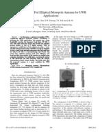 CPW-Coupled-Fed Elliptical Monopole Antenna for UWB