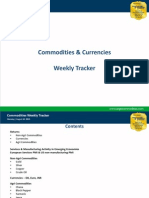 Commodities Weekly Tracker, 12th August 2013