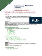 Psm _health Programme-Demography-obs & Paediatrics Medicine_ 50q Model Test