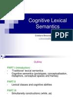 Cognitive Lexical Semantics