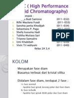 HPLC ( High Performance Liquid Chromatography)