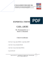 Raport de Expertiza Tehnica CID - LICEU