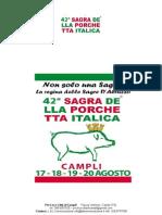 CAMPLI, TUTTO SULLA 42° EDIZIONE DELLA SAGRA DELLA PORCHETTA