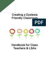 Creating a Dyslexia Friendly Classroom Booklet JC