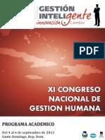 Programa Academico Xi Congreso Adoarh 2013