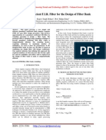 Quantized Coefficient F.I.R. Filter for the Design of Filter Bank