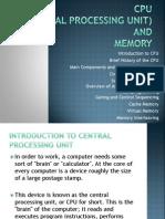 Cpu and Memory