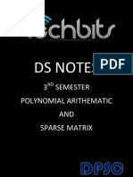 Data Structures-polynomial Arithmatic and Sparse Matrix