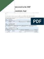 Creating an Interested in the ERP Using Method Cmd_ei_api Maintain_bapi
