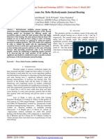 Analysis of Pressure for 3lobe Hydrodynamic Journal Bearing