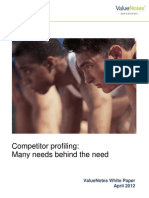Competitor profiling