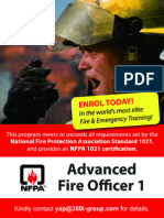 Advanced Fire Officer 1