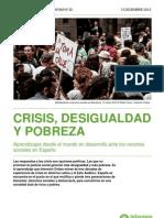 Informe IO 2012. Crisis Desigualdad y Pobreza