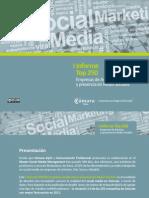 Informe Top250 Empresas de Asturias y presencia en Redes Sociales