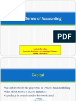 Basic Terms of Accounting