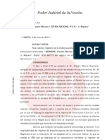 Expte. N° 81.997-13 - Desimone Claudio Marcos contra Estado Nacional -P.E.N.- sobre Amparo (REFORMA JUDICIAL)