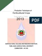 Crop Production Techniques 2013