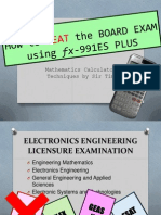 How to Beat the Board Exam Using Es991-Plus